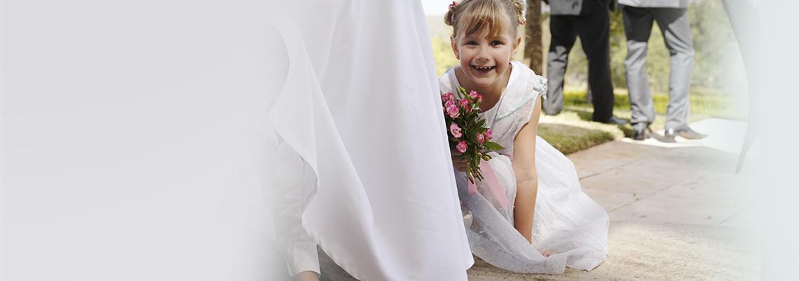 brudepige kjole børn