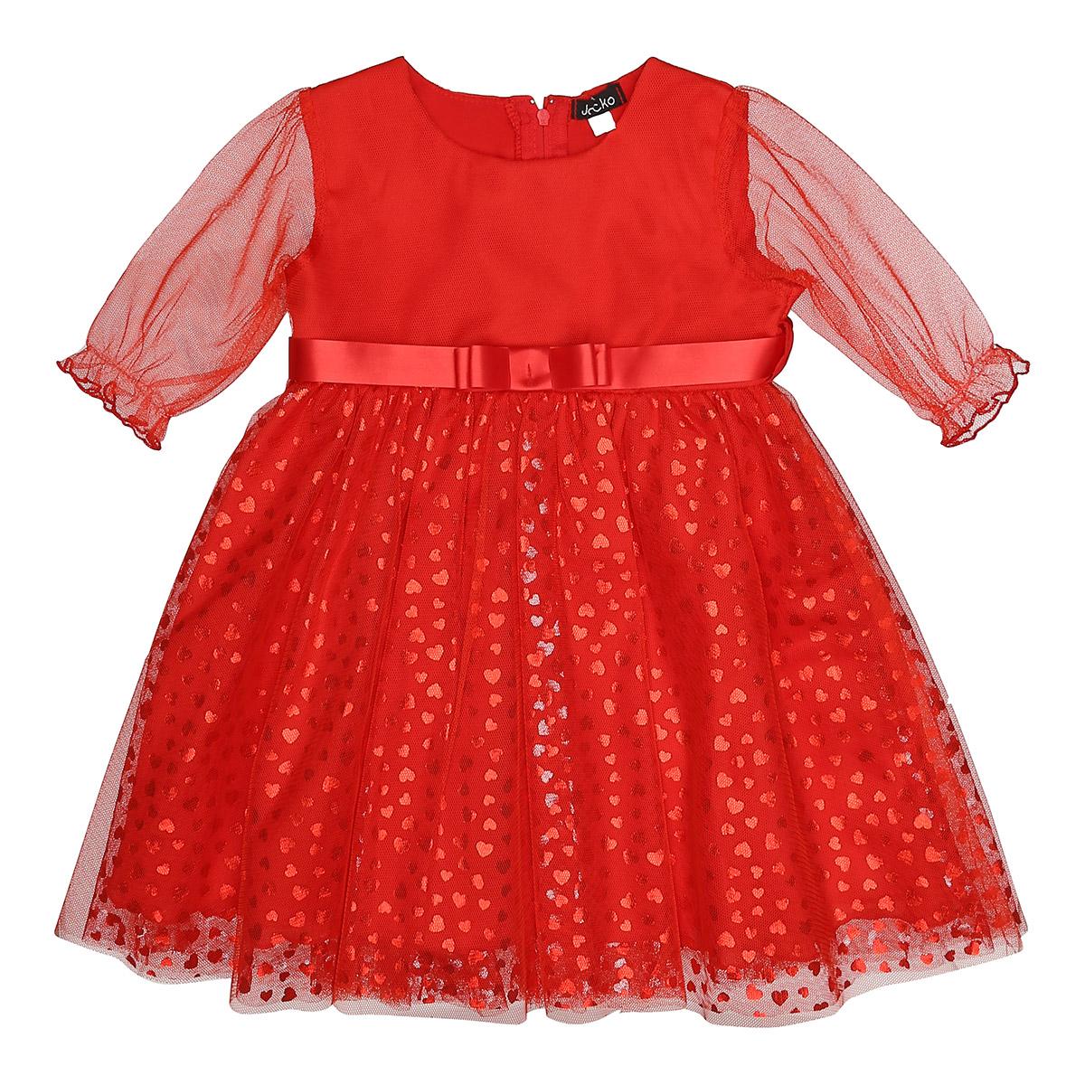 rød baby kjole